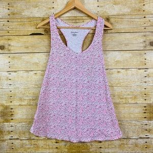 Xhilaration Pajama Racerback Tank Floral Pink XL